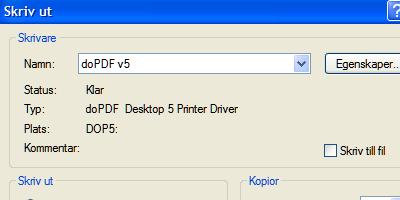 doPDF - skapa PDF