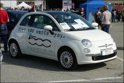 Fiat 500... gullig!