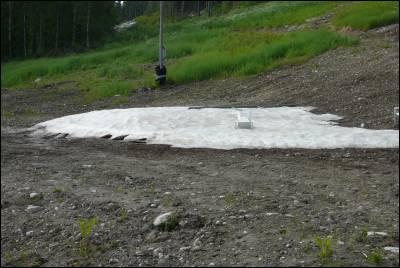 Snö i slalombacken EFTER midsommar!