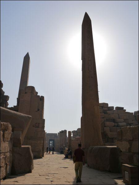 Obelisk i Karnaktemplet!