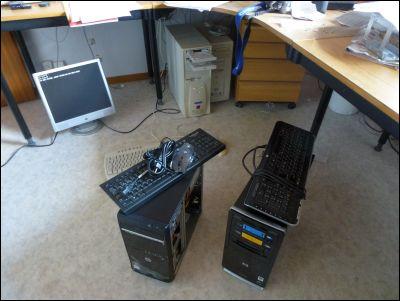 Jag flyttar om datorerna!