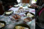 Sen fick vi oss mat, strömming i alla varianter och morgonfiskad sik.