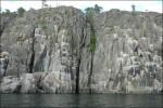 15m djup utanför klippväggen.