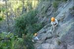 Vi har börjat klättra, syrran och P kommer bakom.