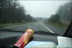 Jaa, det gick åt 4st Pringles med på resan :) ..och det regnade!