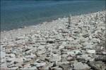 Stenig strand..